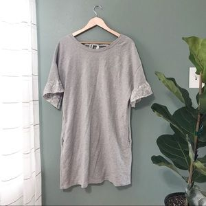 Sanctuary Light Gray Short Sleeve Sweater Dress M